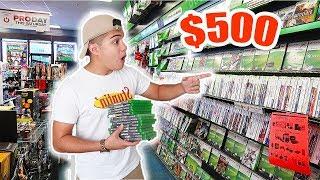 THE $500 GAMESTOP CHALLENGE!!