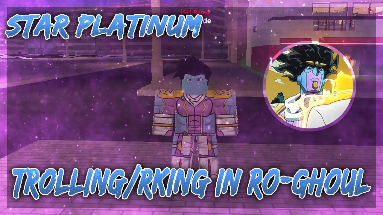 Za Warudo Roblox Outfit Trolling As Star Platinum In Ro Ghoul Ro Ghoul Roblox Youtube