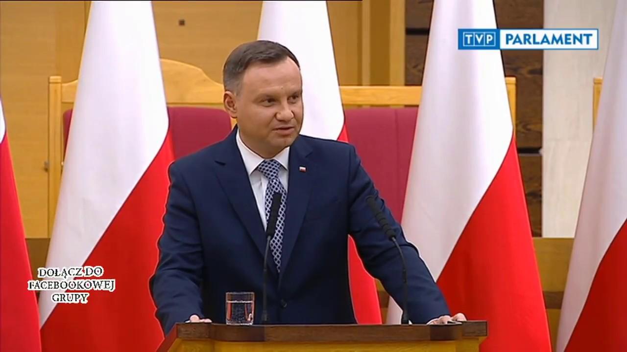 Prezydent Andrzej Duda dosadnie określa gierki Platformy Obywatelskiej z Trybunałem Konstytucyjnym
