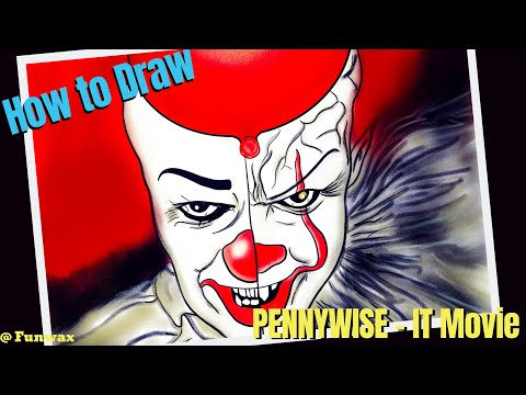 How to draw Pennywise The Dancing Clown | Movie IT 2017 IT 2019 | IT joker drawing