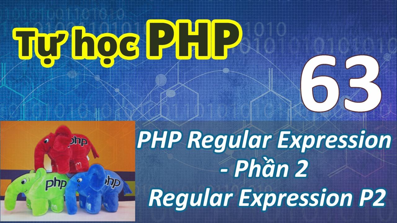 Tự học PHP - Bài 63 Sử dụng biểu thức chính quy - Regular Expression Phần 2