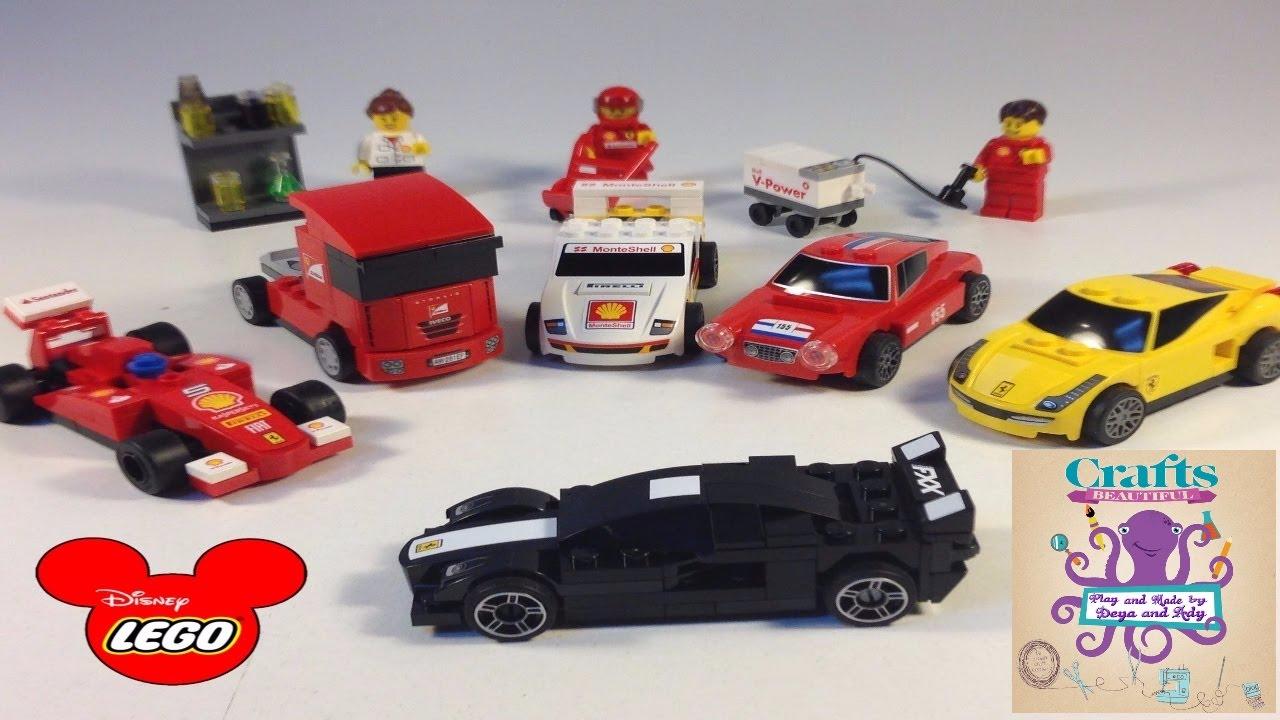 Lego Cars How To Build Ferrari Race Part 1