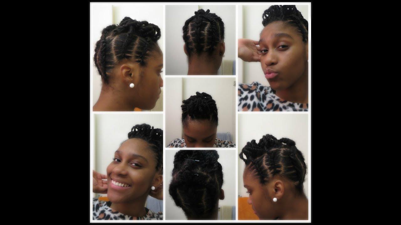 Elastic Cornrows Pin Up Natural 4c Hair Youtube