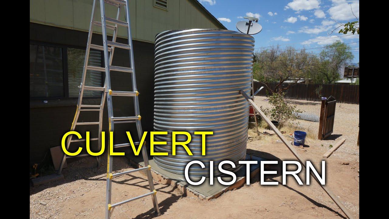 Culvert Cistern Helping Jason Install A Culvert Cistern