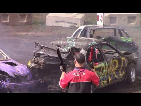 Orilla Demolition Derby 2019 MIni smash heats 1 and 2