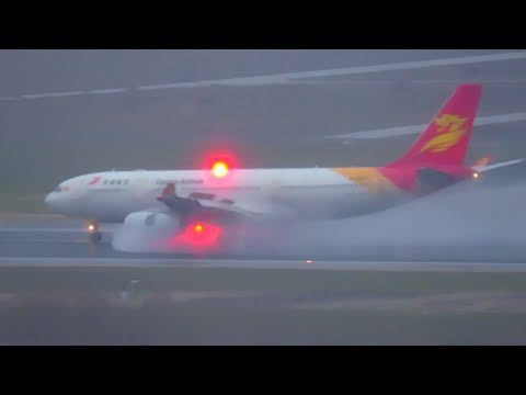 WET Plane Spotting at Madrid Barajas Airport MAD - Morning Arrivals RWY 18L: 747, A330, 787, 777