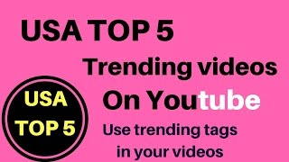 USA Top 5 Trending Videos on YouTube || viral videos