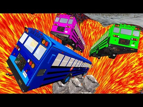 BeamNG drive - School Bus Crashes & Jumps #27 BMG