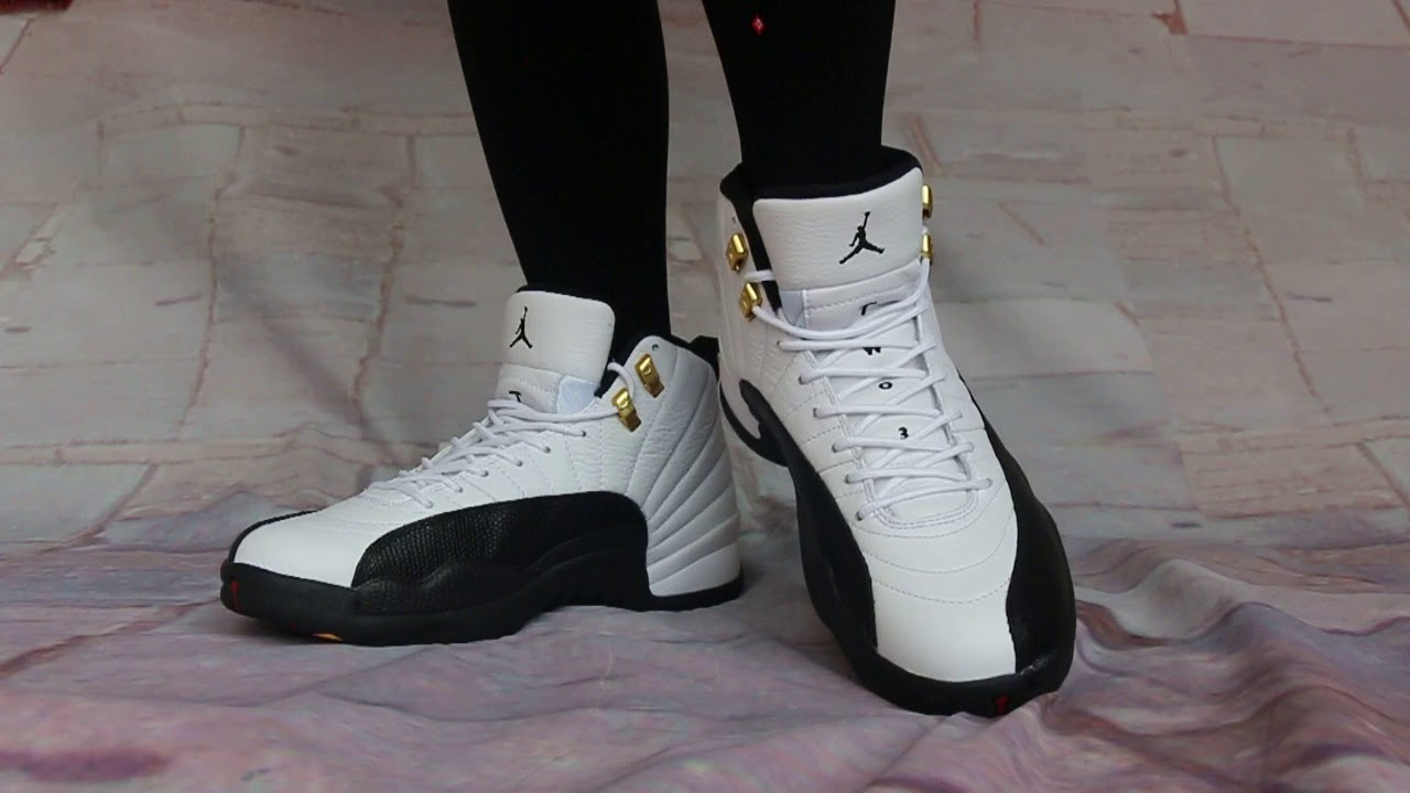 quality design 4a1a0 f54c1 Air Jordan 12 Taxi 2018 On Foot HD Show - YouTube