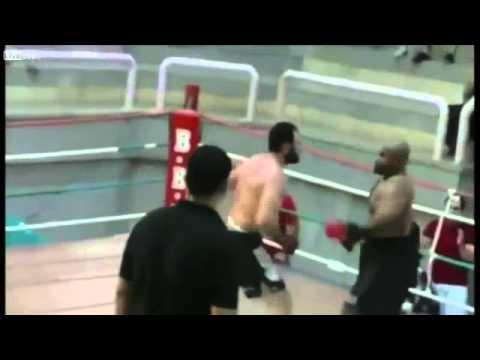 Fighter knocked out after begging for punch poster