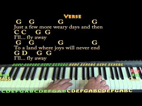 I'll Fly Away (GOSPEL) Piano Cover Lesson with Chords/Lyrics