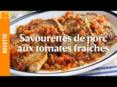 Savourettes de porc aux tomates fraîches et à la sauge