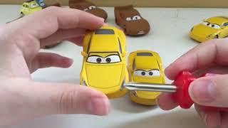 Disney Pixar cars 3 Lightning McQueen as Chester Whipperfilter and Cruz Ramirez as Frances Beltline