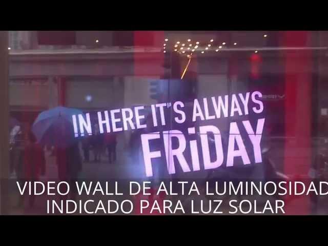 Video Wall de alta luminosidad