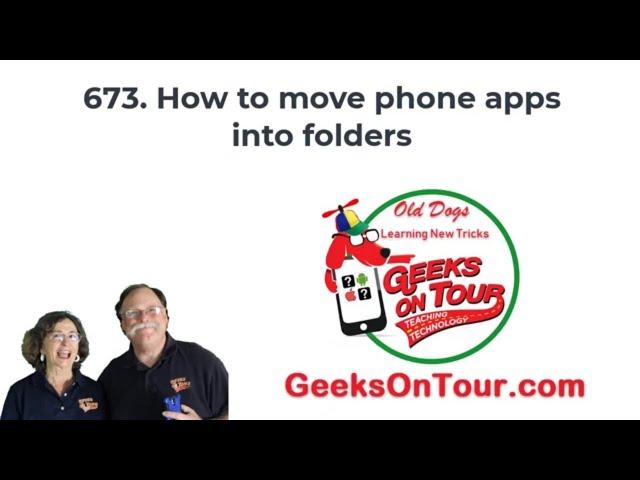How Do I Make App Folders? Tutorial Video 673
