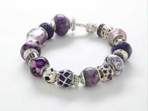 Reflection Beads Bellflower Bracelet