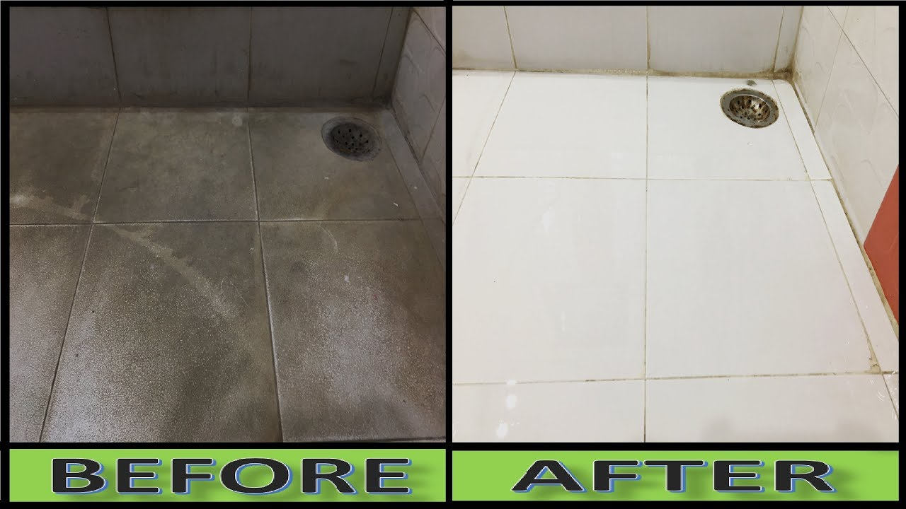 How To Clean Dirty White Tiles To Make Pure White Tiles At Home Youtube