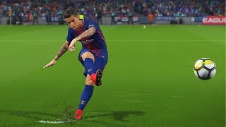 Pro evolution soccer 2018 (winning eleven 2018) ps4 gameplay. p. coutinho first match with fc barcelona free kick goal. music : 1- wild thoughts (the meg...