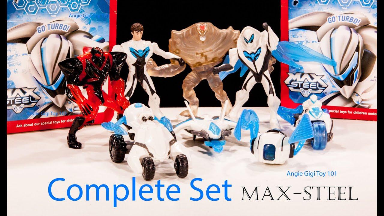 Mcdonald S Happy Meal Kid S Toy Max Steel Complete Set