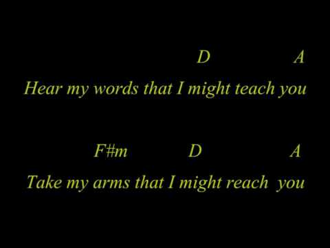 Disturbed - The Sound Of Silence Guitar Karaoke with Chords & Lyrics
