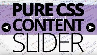 Simple CSS Content Slider! [VOICE TUTORIAL]