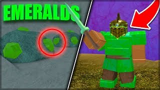 WHERE TO FIND EMERALDS *NEW* OP ARMOR! | Roblox: Booga Booga (UPDATE)