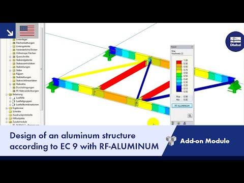 Dlubal RFEM - Design of Aluminium Construction According to Eurocode 9 with RF-ALUMINIUM