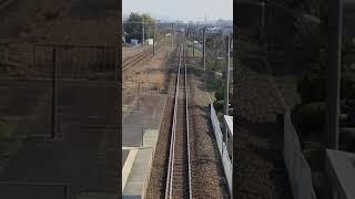 JR北陸本線 683系サンダーバード真上から撮影 春江駅にて