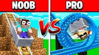 NOOB vs PRO ROLLERCOASTER IN MINECRAFT!