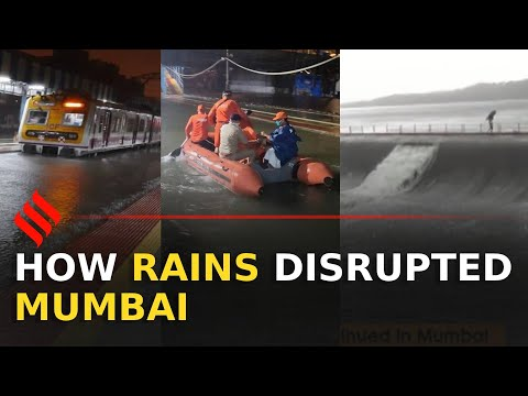 Trains stuck, hospital flooded, lake overflowed: How rains disrupted Mumbai | Mumbai Rains