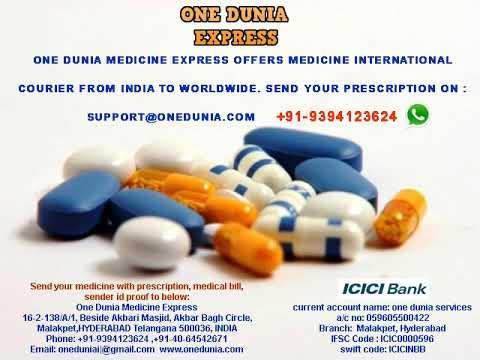 Send Medicine To USA UK Canada China Australia UAE From India