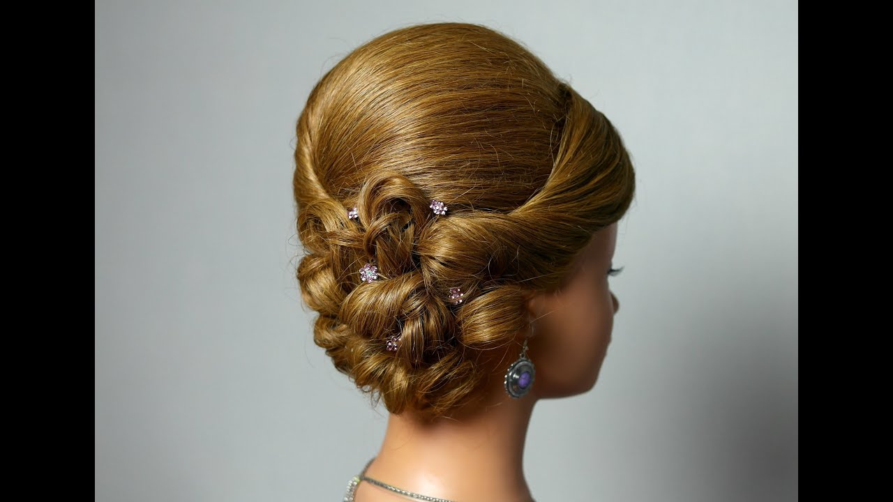 23 Romantic Wedding Hairstyles For Long Hair: Wedding Prom Hairstyle For Long Medium Hair. Romantic Updo