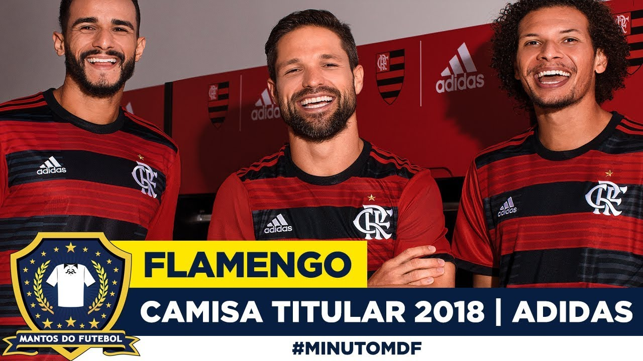 e378d7dd3a Camisa titular do Flamengo 2018-2019 Adidas - YouTube