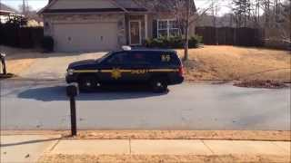 Greenville County Sheriff's K-9 Unit Arriving On Scene Of A Investigation In Greenville, Sc.