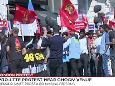 Pro-LTTE group protest against President in London (English)
