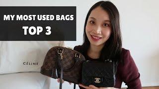 My Favorite Bags TOP 3| 最常用的三只包包|Chanel Mini Square|Celine Belt|LV Alma BB