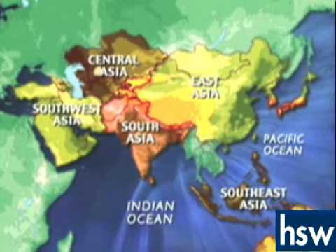The Continent Of Asia Map.World Geography The Geography Of Asia And The Pacific Youtube