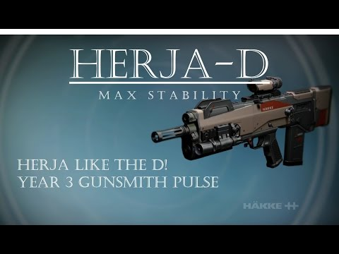 Destiny - Herja-D - Max Stability Hakke Gunsmith Pulse Rifle - Year 3 Gameplay and Review