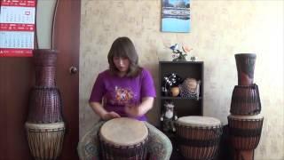 Уроки по джембе, №3. Необычные удары на джембе.
