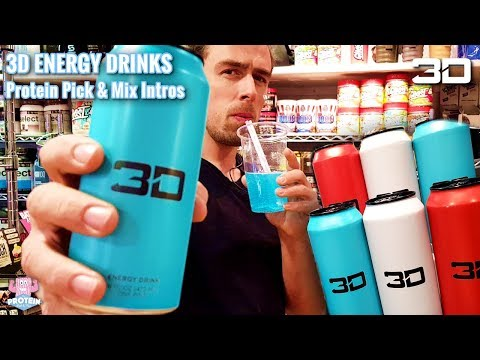 Christian Guzman's 3D Energy Drinks :: Protein Pick and Mix Reviews