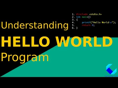 "Understanding the ""Hello World"" Program in C 