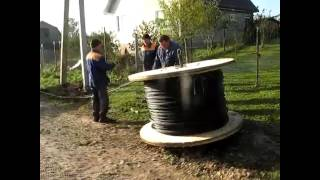 видео Прокладка оптического кабеля
