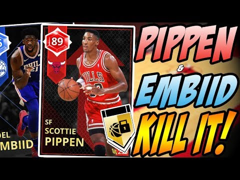 NBA 2K18 MYTEAM RUBY SCOTTIE PIPPEN & SAPPHIRE JOEL EMBIID GAMEPLAY! HOW DID HE DO THAT!?