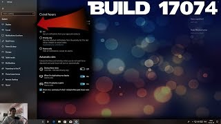 Windows 10 - build 17074 New changes, good direction