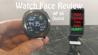 Watch Face Review : AP56 Digital Sport Samsung Gear S3 Galaxy Watch Gear Sport