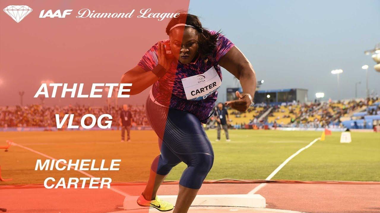 Michelle Carter Athlete >> Athlete Vlog Michelle Carter Monaco 2018 Iaaf Diamond League