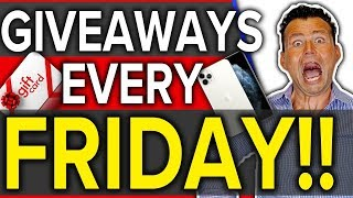 Friday 3PM Giveaway! Win prizes, Gift Cards, iPhones!