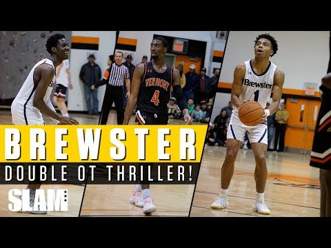 DOUBLE OVERTIME!? Jalen Lecque & Brewster vs Vermont in HEATED BATTLE 🔥