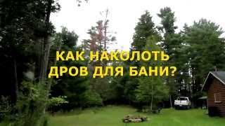 видео дрова для бани