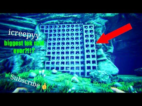 Ark survival evolved: raiding the biggest underwater full tek alpha tribe!!!